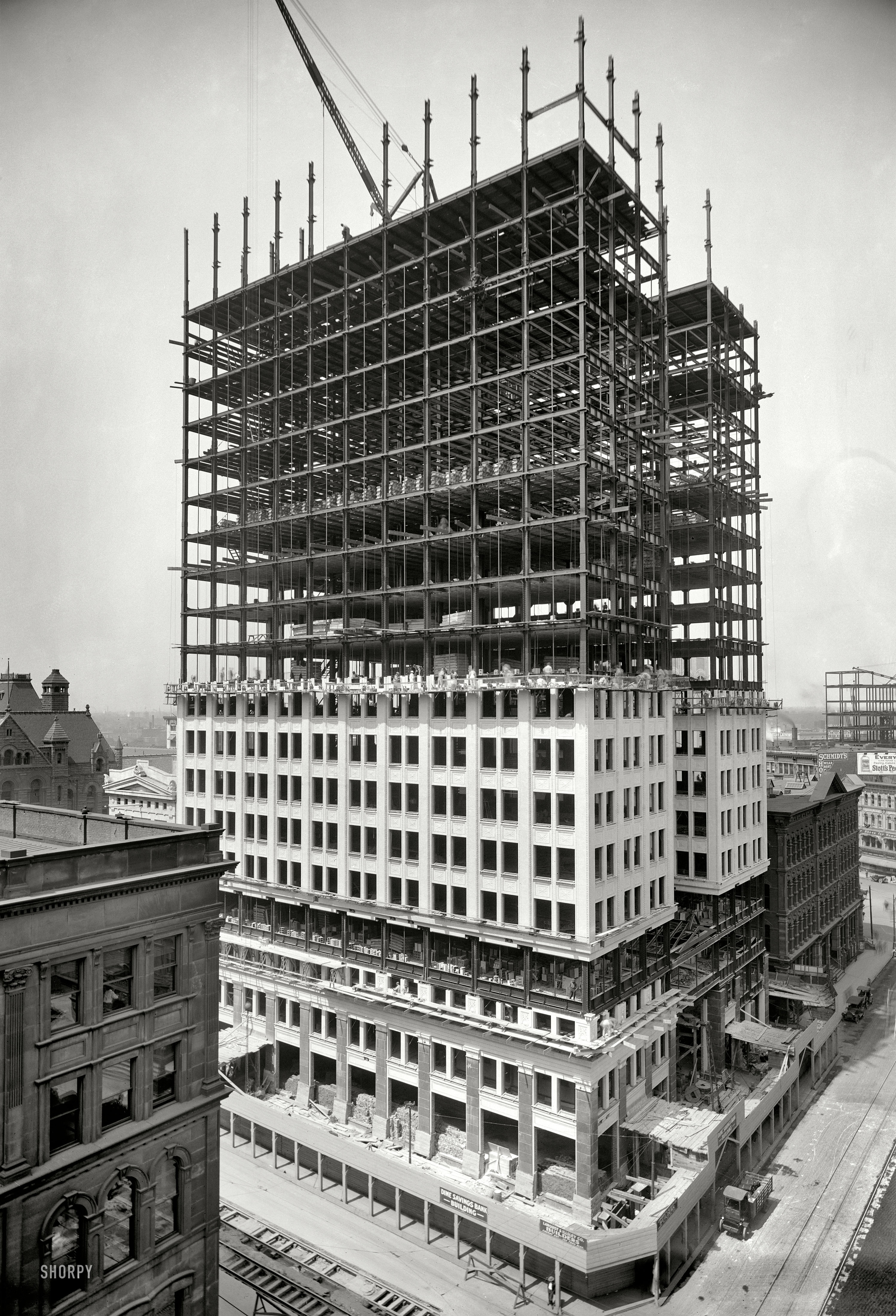 Building Under Construction : Shorpy saturday going up the woodward spine