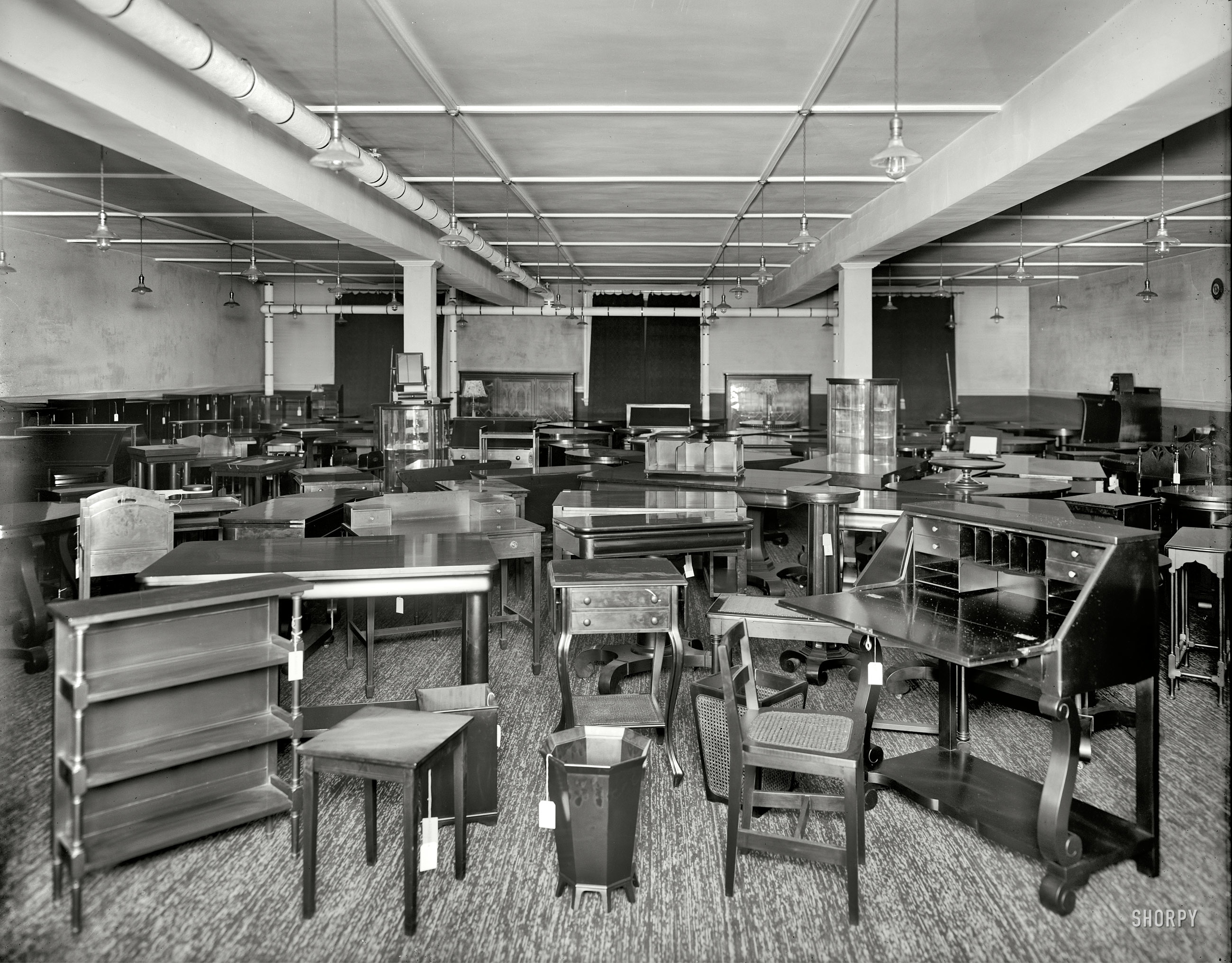 Detroit, Michigan, Circa 1912. U201cPringle Furniture Co. Showroom With Tables  And Miscellaneous Furniture.u201d Our Second Peek Behind The Scenes At This  Eerily ...