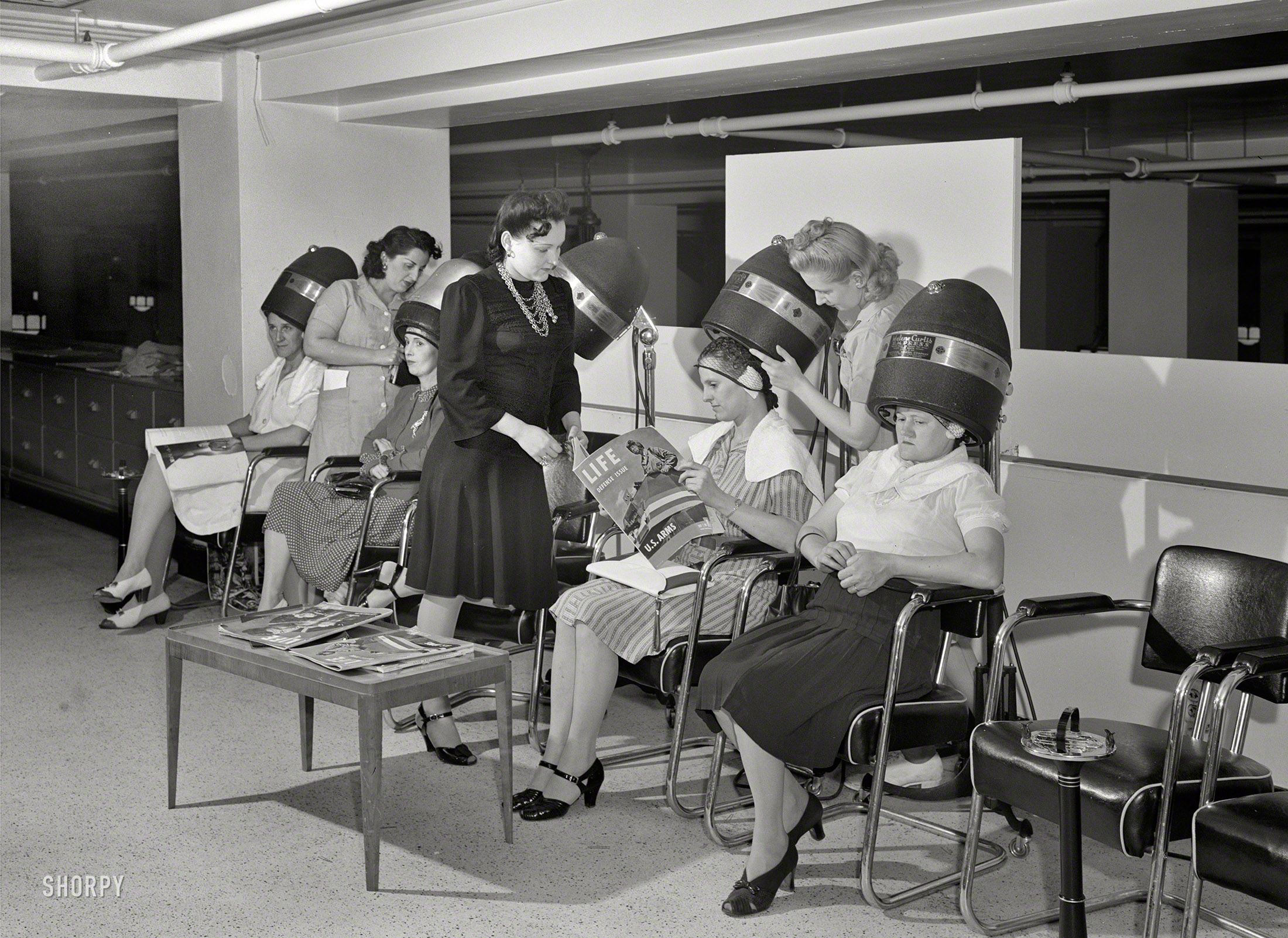 Shorpy saturday new wave 1941 the woodward spine for 1950 s beauty salon